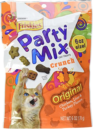 Friskies Original Crunch Party Mix Cat Treats, 6 Oz., Package may vary