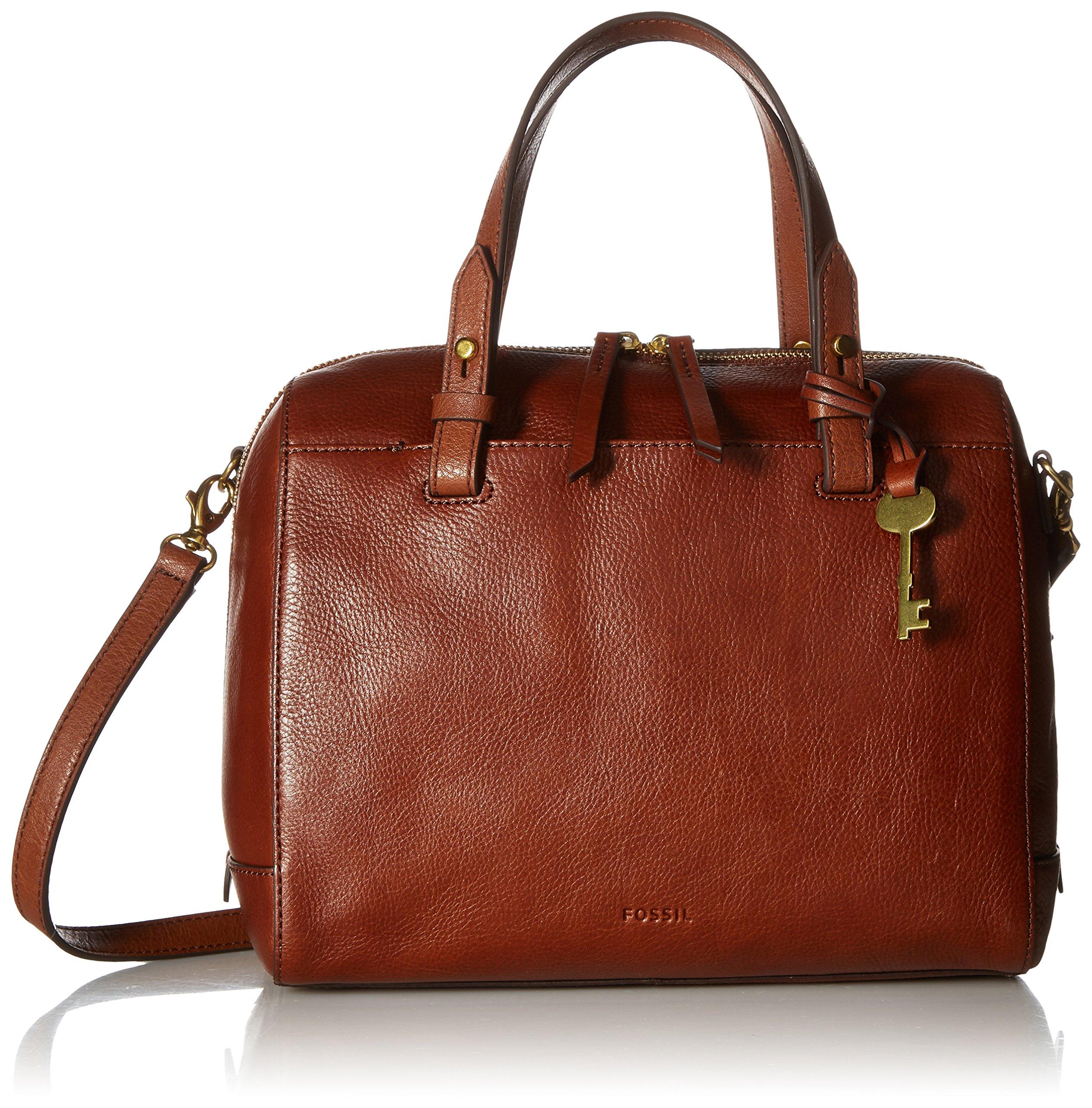 Fossil Rachel Satchel Handbag, medium brown