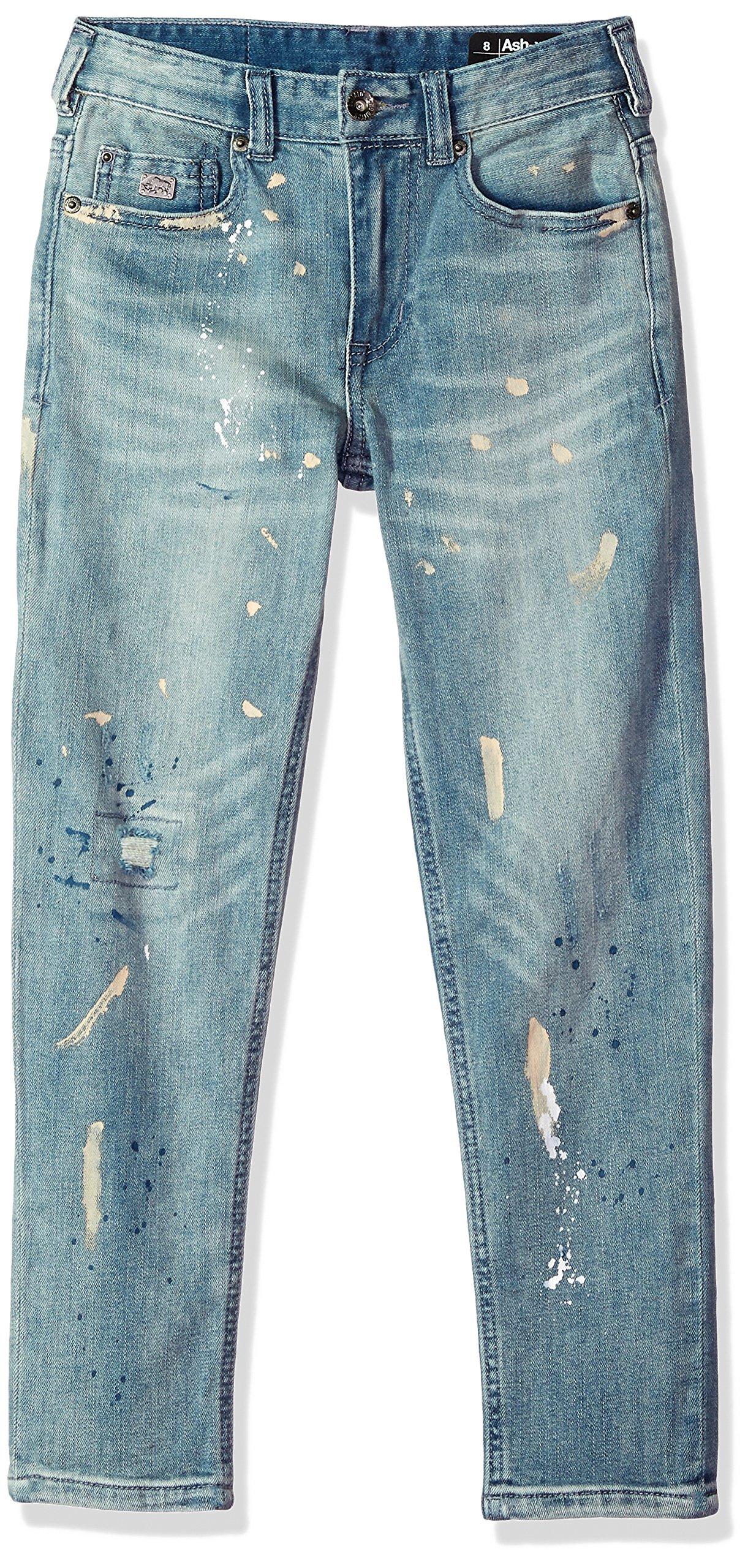 Buffalo by David Bitton Big Boys' Ash-X Skinny Fit Denim Jeans With Stretch, Ash/x artist Wash, 16