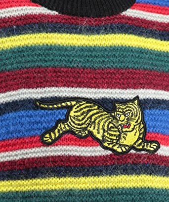 5a1653c0 Kenzo Mens Jumping Tiger Striped Jumper: Amazon.co.uk: Clothing