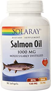 Solaray Salmon Oil, 1000 mg, 90 Count