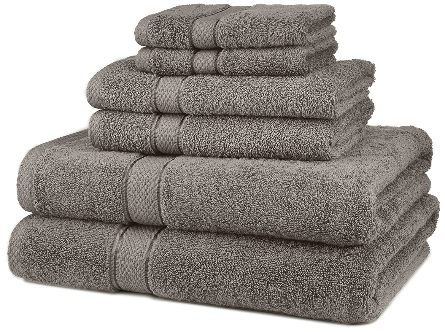 Amazon com  Pinzon Blended Egyptian Cotton 6 Piece Towel Set  Grey  Home    Kitchen. Amazon com  Pinzon Blended Egyptian Cotton 6 Piece Towel Set  Grey