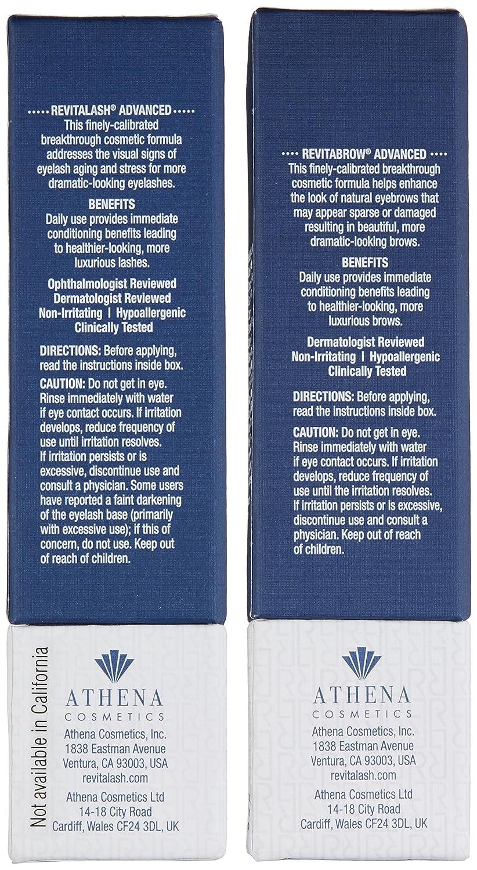 18d57bcb7f2 Amazon.com: RevitaLash Cosmetics, Trial Size Gift Set / RevitaLash Advanced  1.0mL & RevitaBrow Advanced 1.5mL, Hypoallergenic & Cruelty Free: Luxury  Beauty