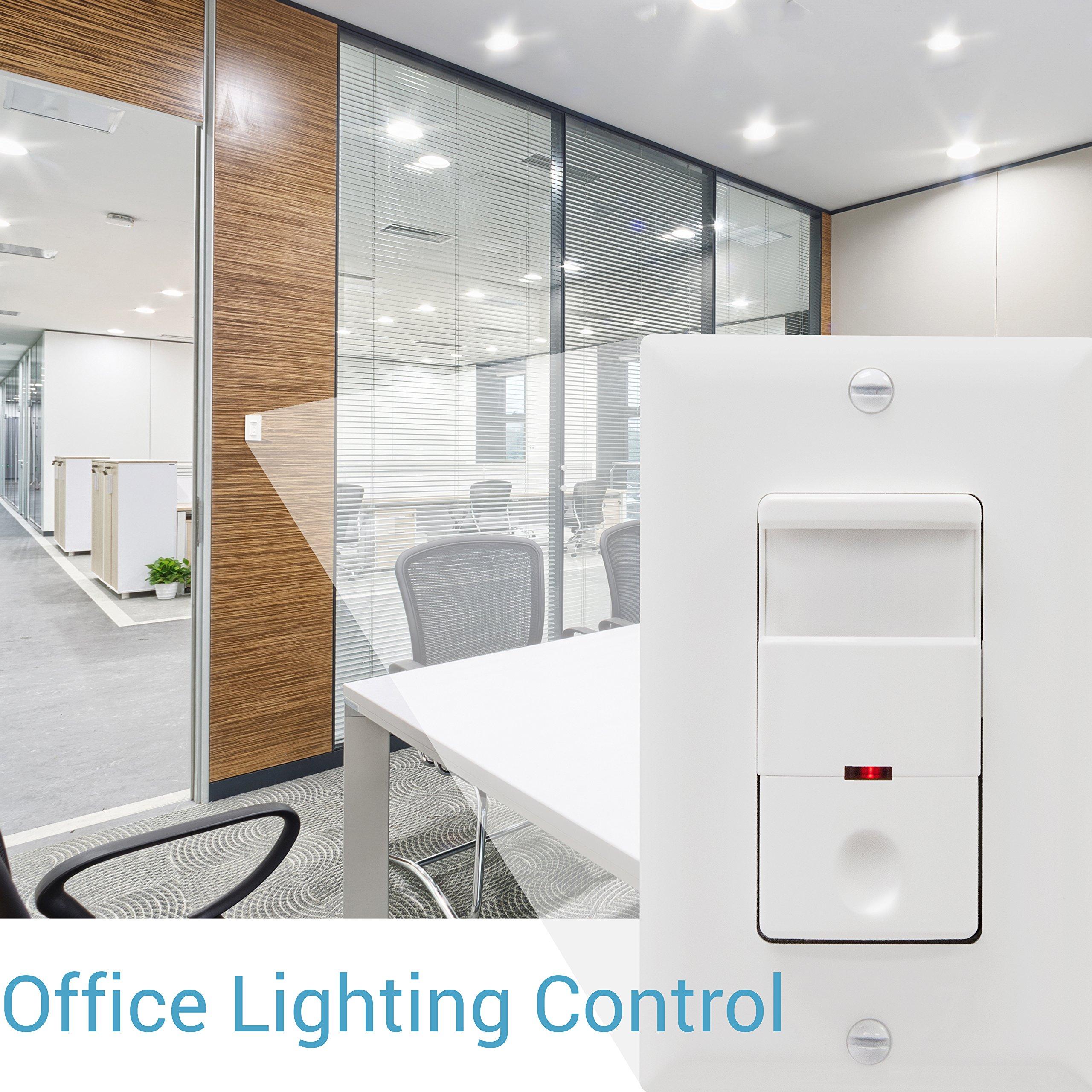 TOPGREENER TDOS5-White Motion Sensor Light Switch, PIR Sensor Switch, Occupancy Sensor Light Switch, Motion Sensor Wall Switch, 500W 1/8HP, Neutral Wire Required, Single Pole, White by TOPGREENER (Image #6)