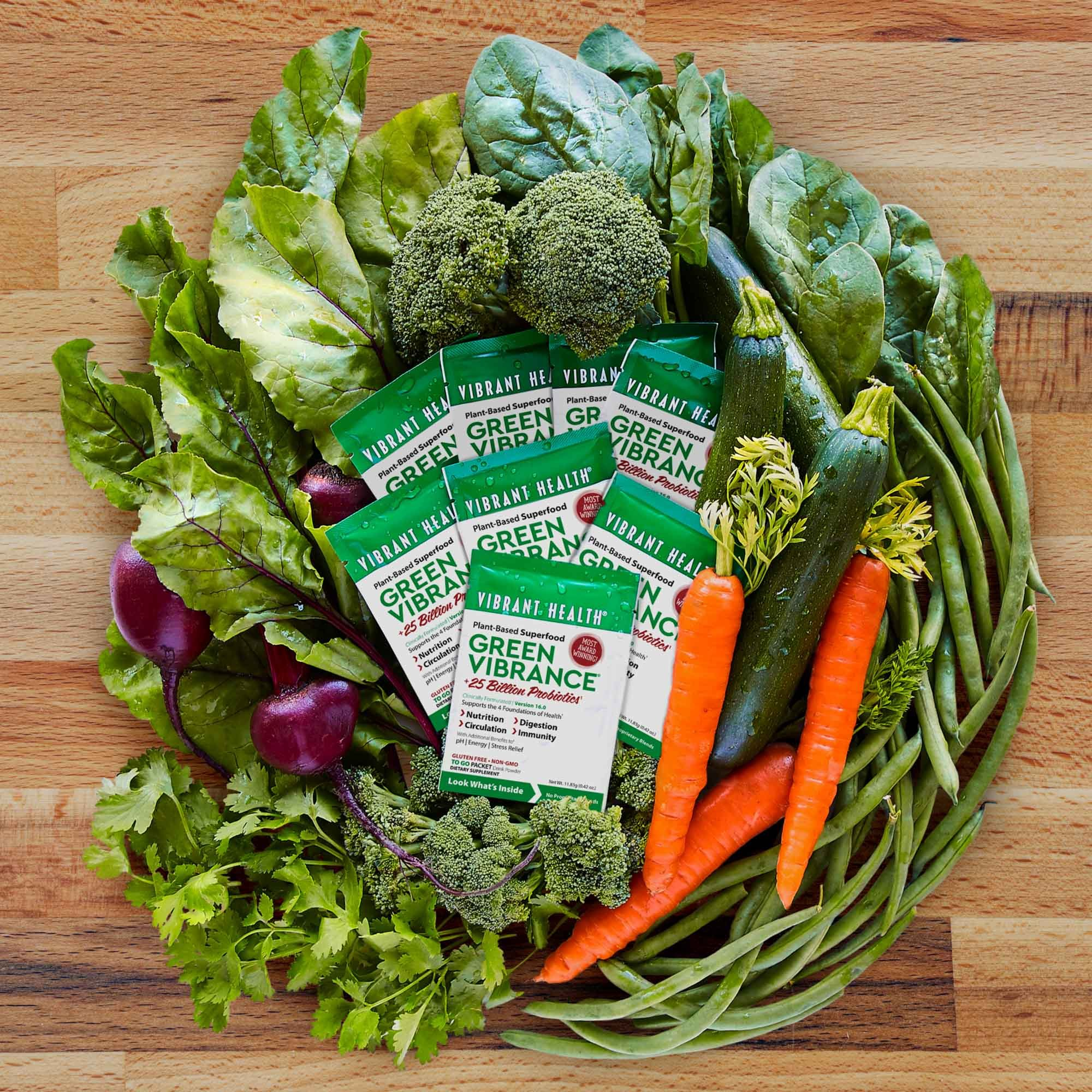 Vibrant Health - Green Vibrance, Plant-based Daily Superfood + Protein and Antioxidants, 15 Packets by Vibrant Health (Image #7)
