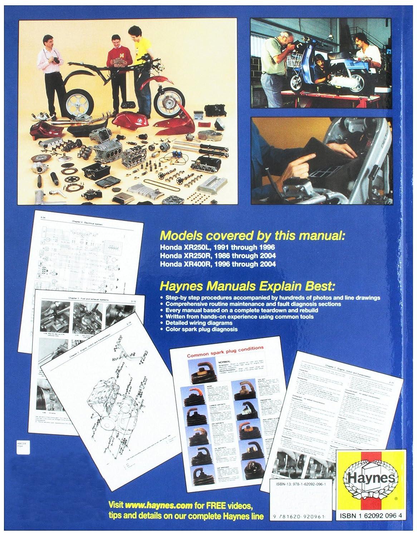 Service Guide For 1986 Xr250r Ford Ltd Crown Victoria Wiring Diagram Get Free Image Array Haynes Honda 250l 400r 86 03 Repair Manual 2219 Diagnostic Rh Amazon Ca