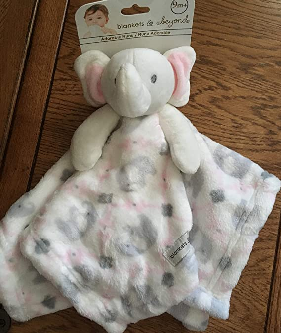 XXL LARGE PLUSH  BLANKET BABY SOFT PATTERN COTTON MINKY FABRIC grey elephants