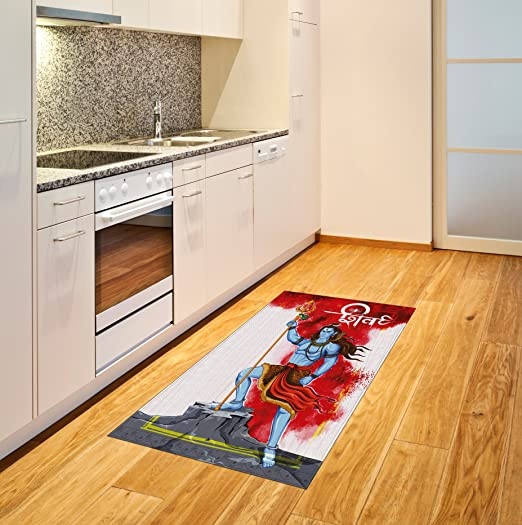 Kitchen Ideas Acnl.Amazon Com Ethnic Area Rug By Ambesonne Mighty Figure Standing On