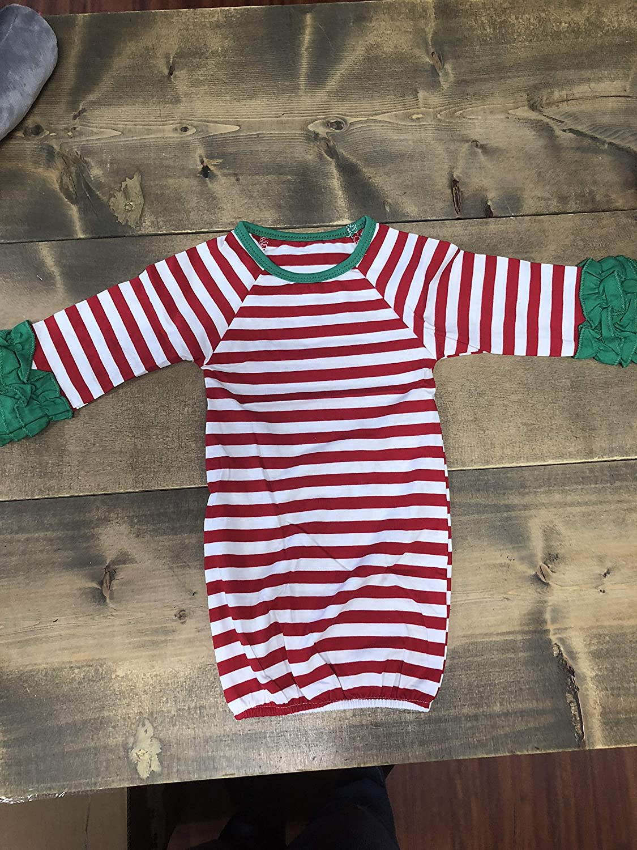Baby Raglan Ruffle Christmas Gown