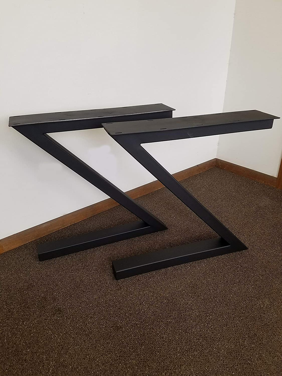 Amazon Com Metal Table Legs Z Shaped Style Any Size And Color Handmade