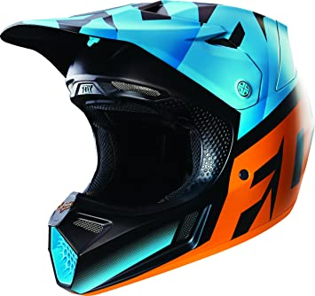 Fox Racing Shiv hombre V3 Motocross casco de moto, color negro/blanco