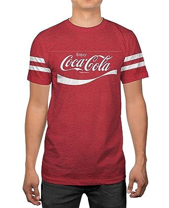 ddcaa86c8a0a Amazon.com: Classic Coca-Cola Coke Logo Mens Red Heather T-Shirt ...