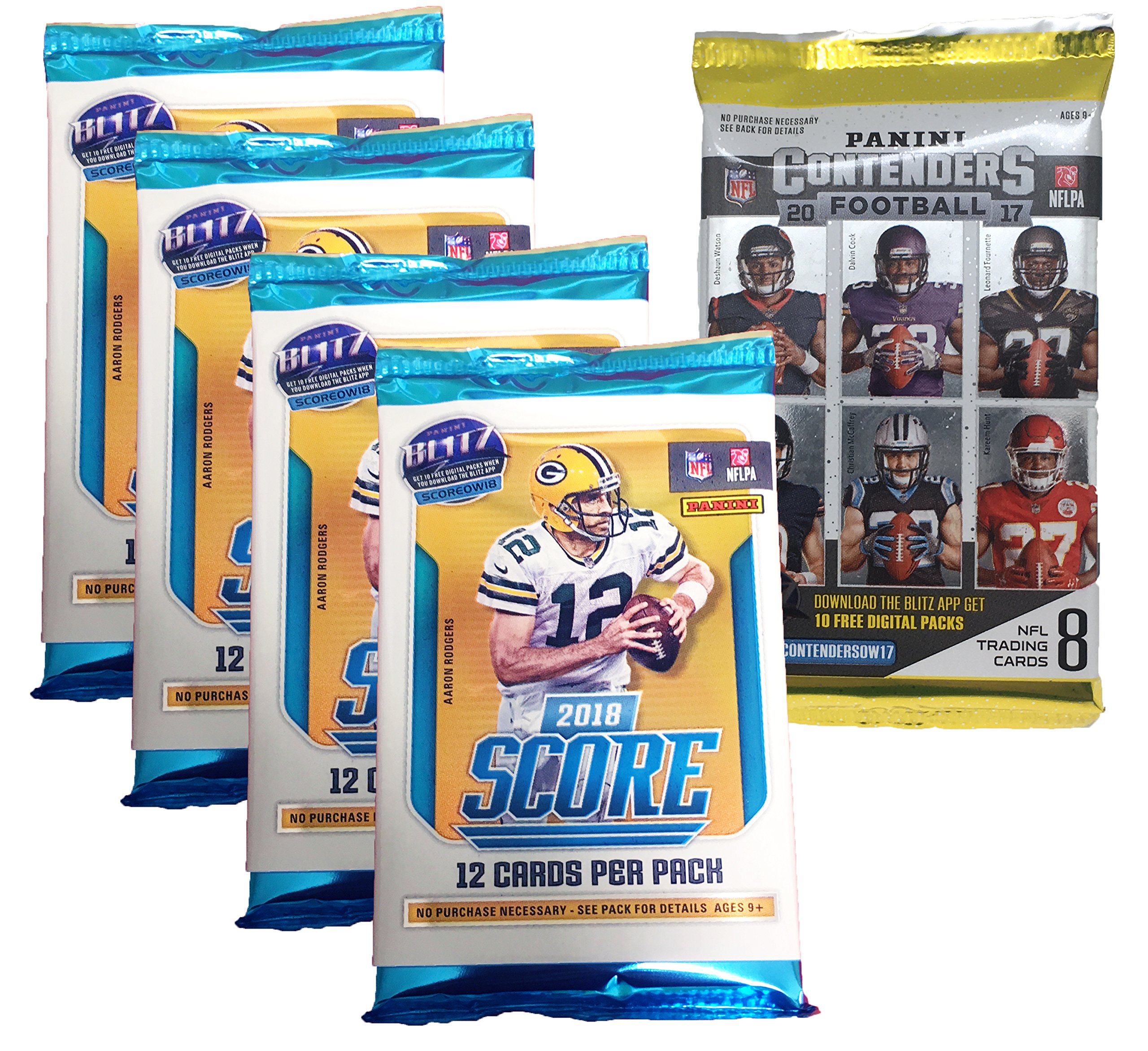 Panini 2018 2019 Score NFL Football Trading Cards Retail Factory Sealed 4 Packs + Bonus Pack