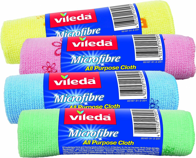 Vileda Microfibre Eco Lot de 2 serpill/ères de Rechange 100/% Microfibre Vert//Blanc Grande capacit/é de Nettoyage et dabsorption