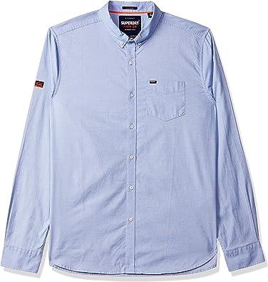 Camisa Superdry Oxford Azul Hombre 3XL Azul: Amazon.es ...