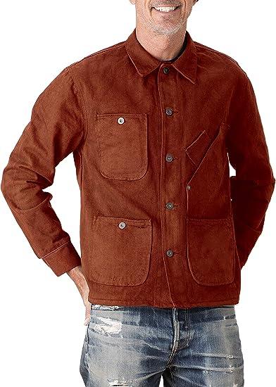 Tellason Made in USA Men's Garment Dyed Bull Denim Coverall Jacket Chore Coat