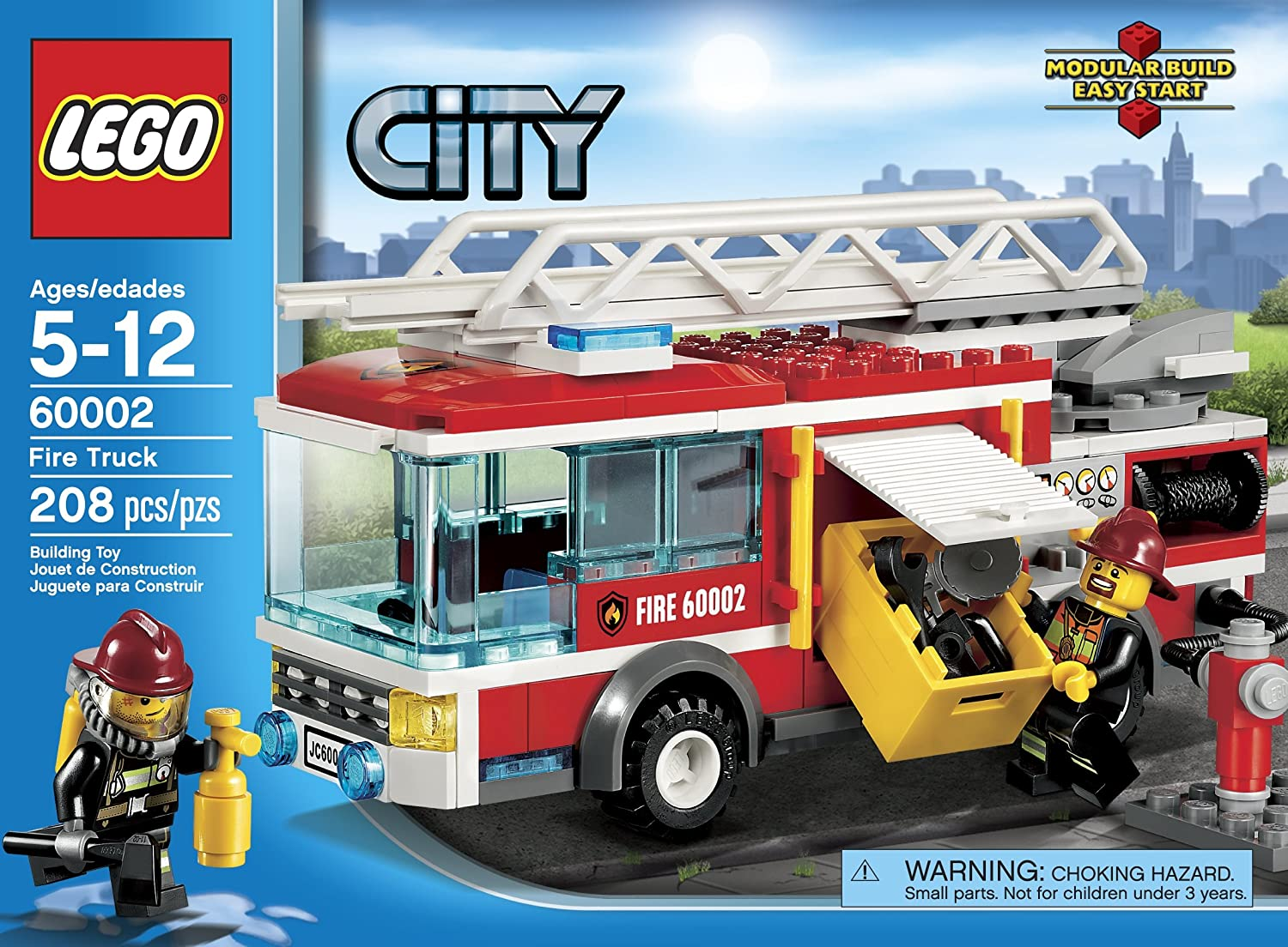 lego fire truck instructions 7208