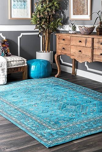 nuLOOM Daenerys Persian Area Rug, 7 6 x 9 6 , Blue