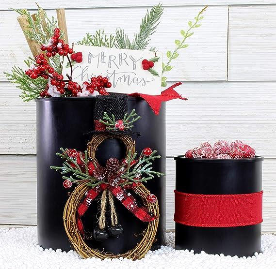 Negro mate latas de pintura L & Quart plástico (1 galón puede, 1 Quart puede); all-plastic W/snap-tight tapas para pinturas, barnices, y manualidades