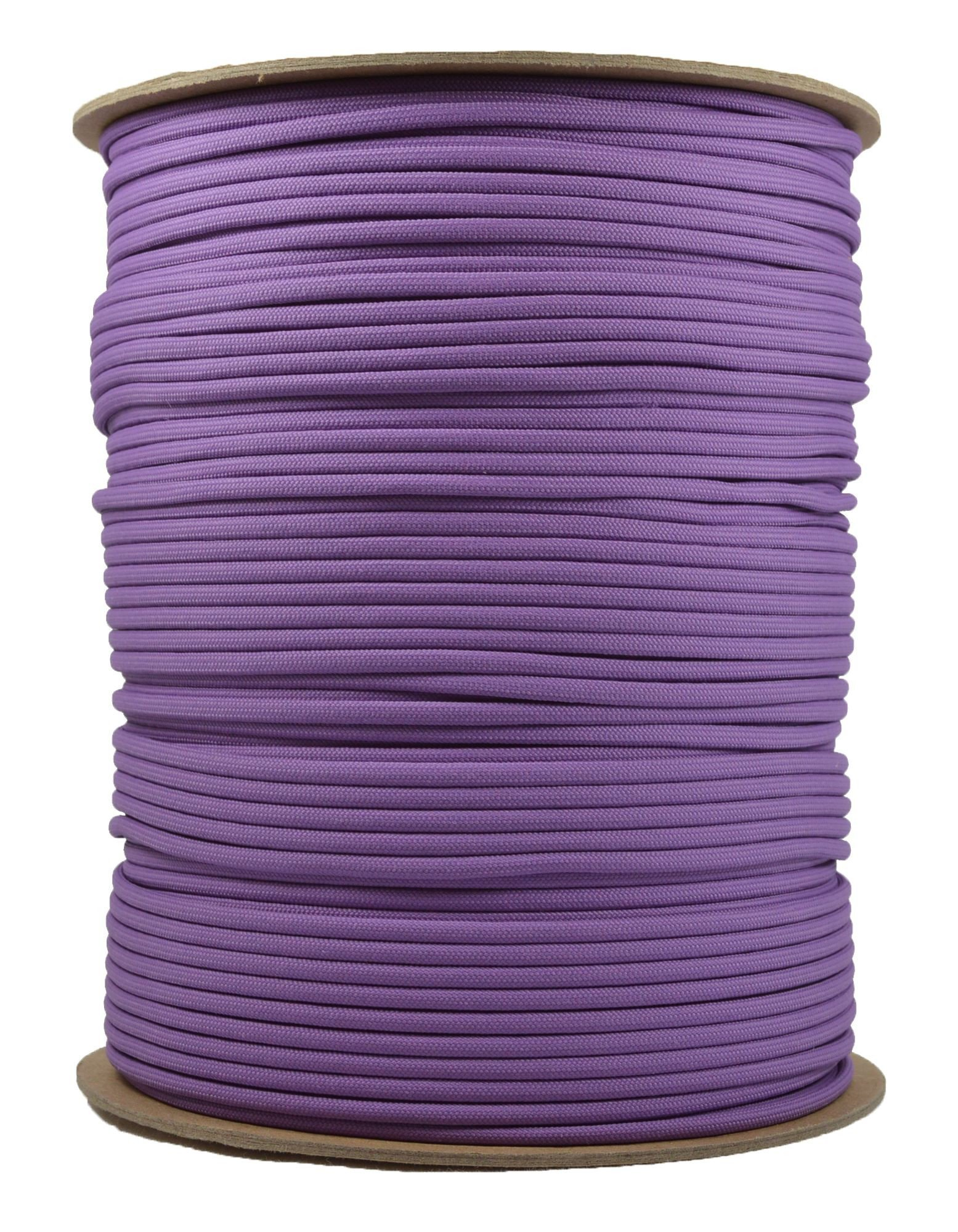 Solid Colors Paracord - Type III Parachute Cord - Lilac - 1000 Foot Spool