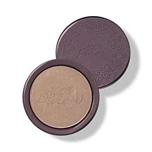 100% PURE Cocoa Pigmented Bronzer, Cocoa Kissed, Bronzer Powder for Face, Contour Makeup, Soft Shimmer, Sun Kissed Glow (Medium Brown w/Neutral Undertones) - 0.32 Oz