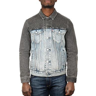 e26b8c6e155956 Levi's Homme Banzi Trucker Jacket, Bleu: Amazon.fr: Vêtements et ...