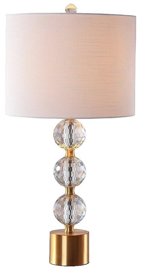 Jonathan Y Jyl5017a Ashley 25 25 Crystal Table Lamp Clear Brass