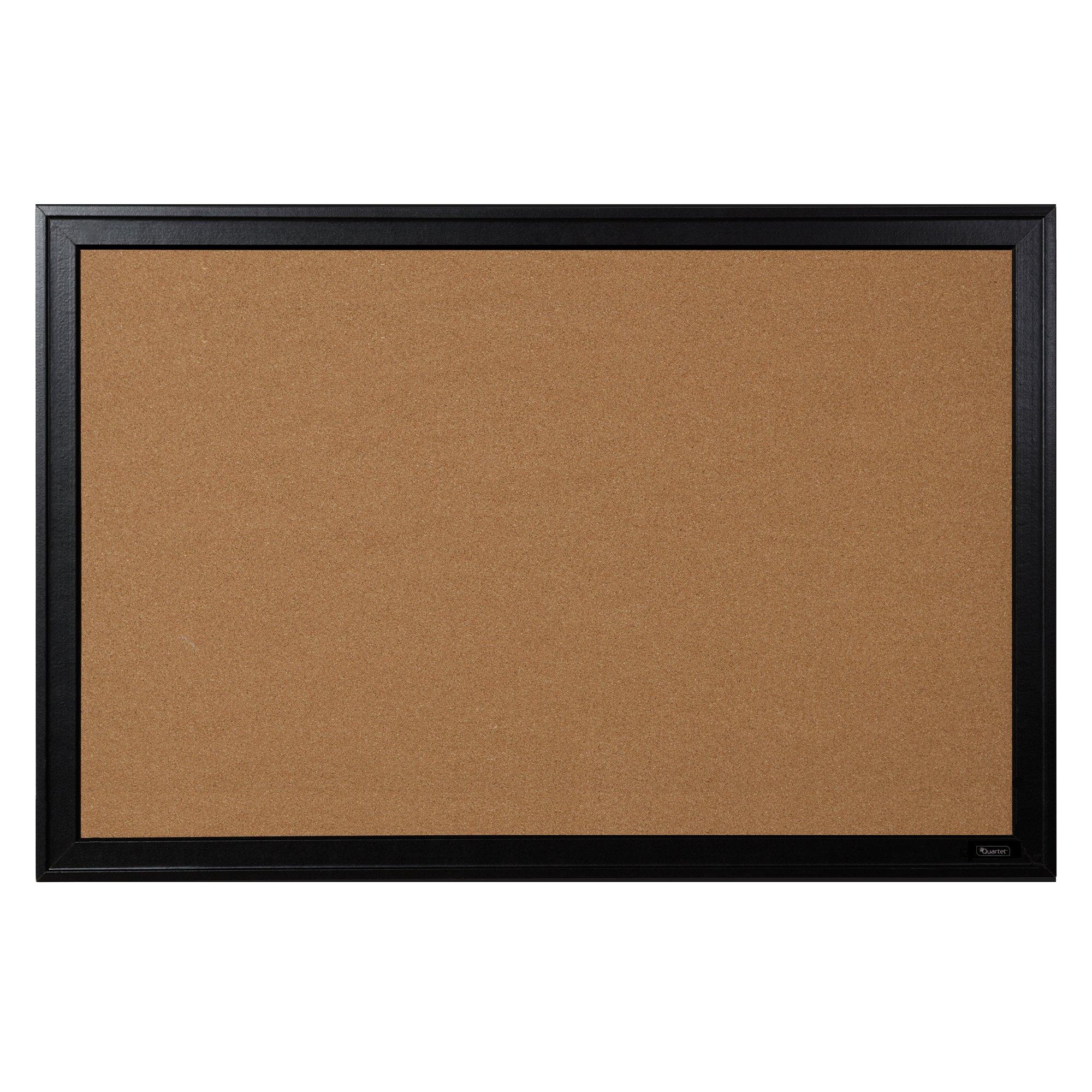 Quartet Bulletin Board, Cork, 24''x36'', Black Frame (13769)