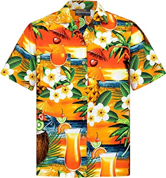 Camisa Hawaiana | Hombre | Señores | 100% Algodón | Talla S - 8XL | Manga Corta | Cerveza | Cocteles | Muchos Colores | Tropical | Aloha | Playa | Palmas | Camiseta Hawaiiana | Hawaii: Amazon.es: Ropa y accesorios