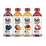 Bai Rainforest Variety Pack, Antioxidant Infused Drinks, 18 Fluid Ounce Bottles, 12 count, (3 bottles each of Brasilia Blueberry, Costa Rica Clementine, Malawi Mango, Sumatra Dragonfruit)