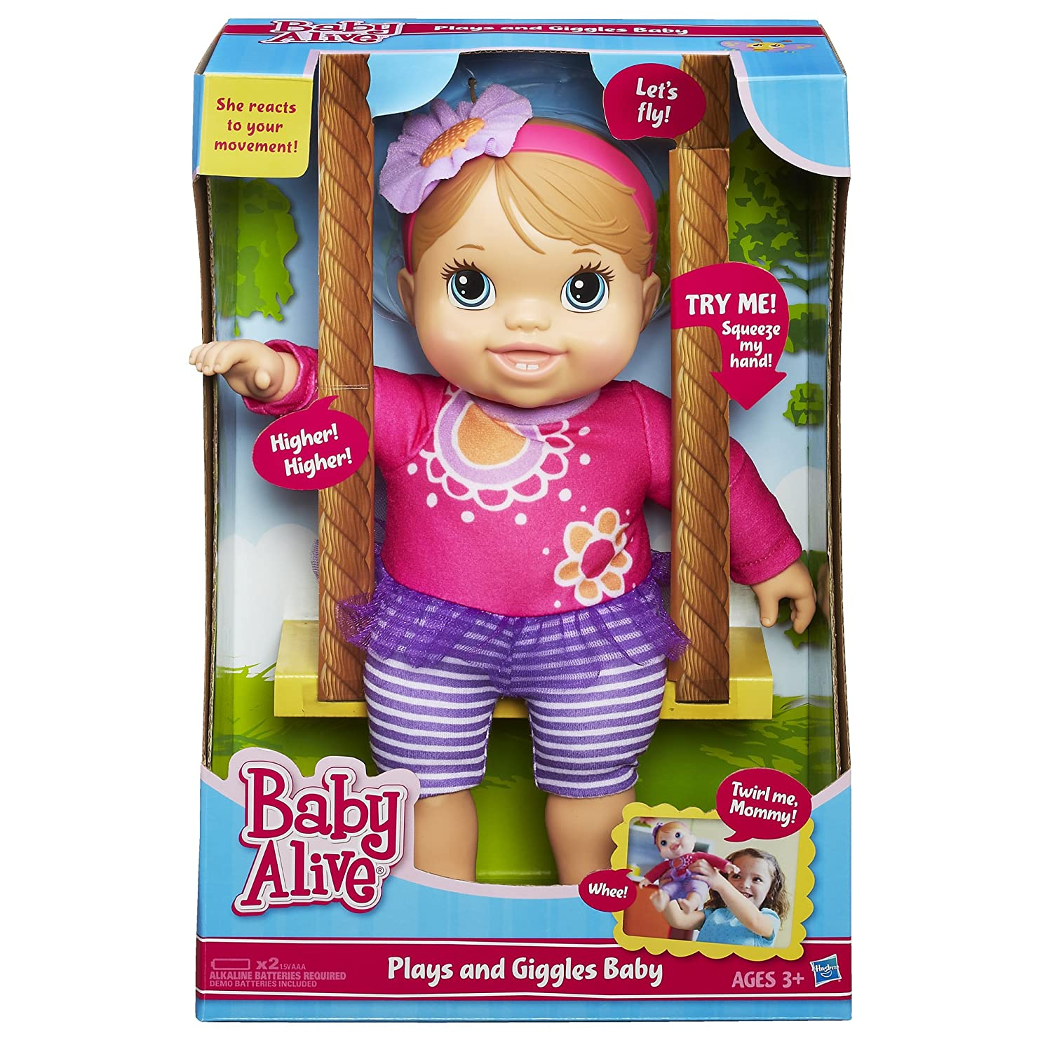 Amazon Baby Alive Plays and Giggles Blonde Baby Doll Toys & Games