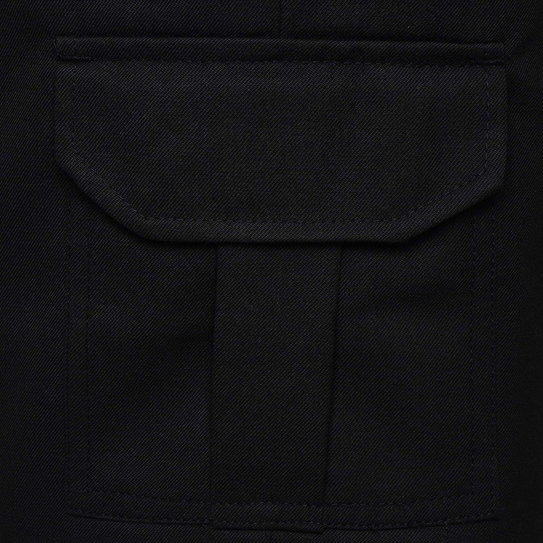 INDX-Clothing Boys School Shorts Cargo Uniform Adjustable Waist Long Grey Black Age 2-3 to 15 Years