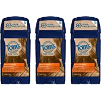 3-Pack Tom's of Maine Men's Long Lasting Wide Stick Deodorant 2.8 Oz