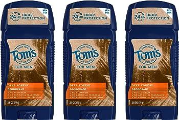3-Pack Tom's of Maine Men's Long Lasting Wide Stick Deodorant 2.8 Oz