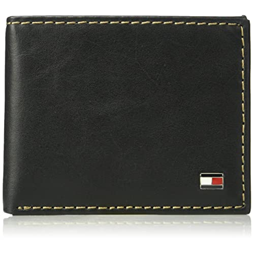 Tommy Hilfiger mens Rfid Blocking 100% Leather Oxford Id Billfold