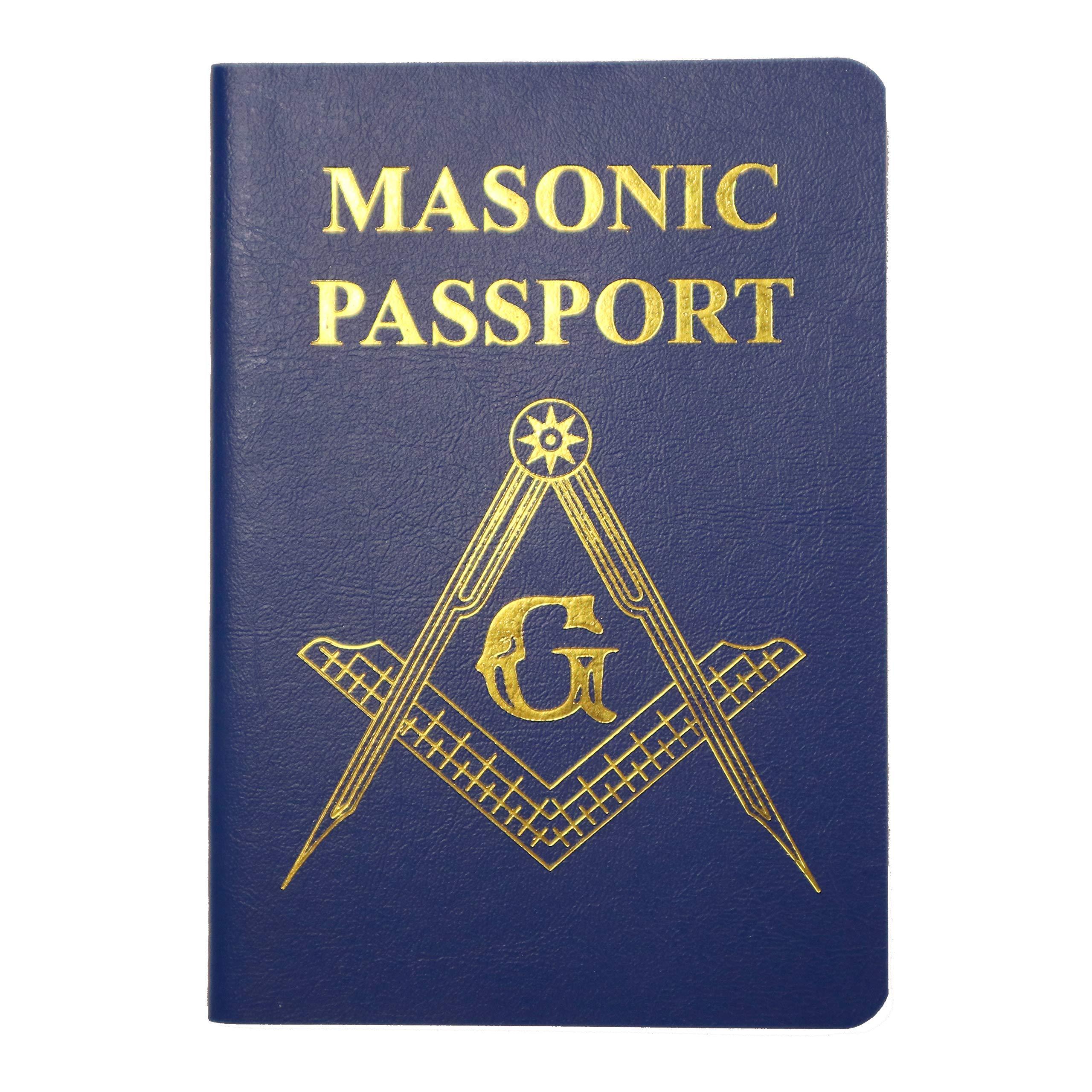 MasonicMan Masonic Passport For Recording Visits to New Freemasonry Lodge (2 Pack) by MasonicMan