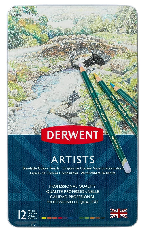 Derwent Artists Matite Colorate in Scatola di Metallo (Confezione da 12) Acco Uk Limited 32092 reikos_0019522742AM_0031321