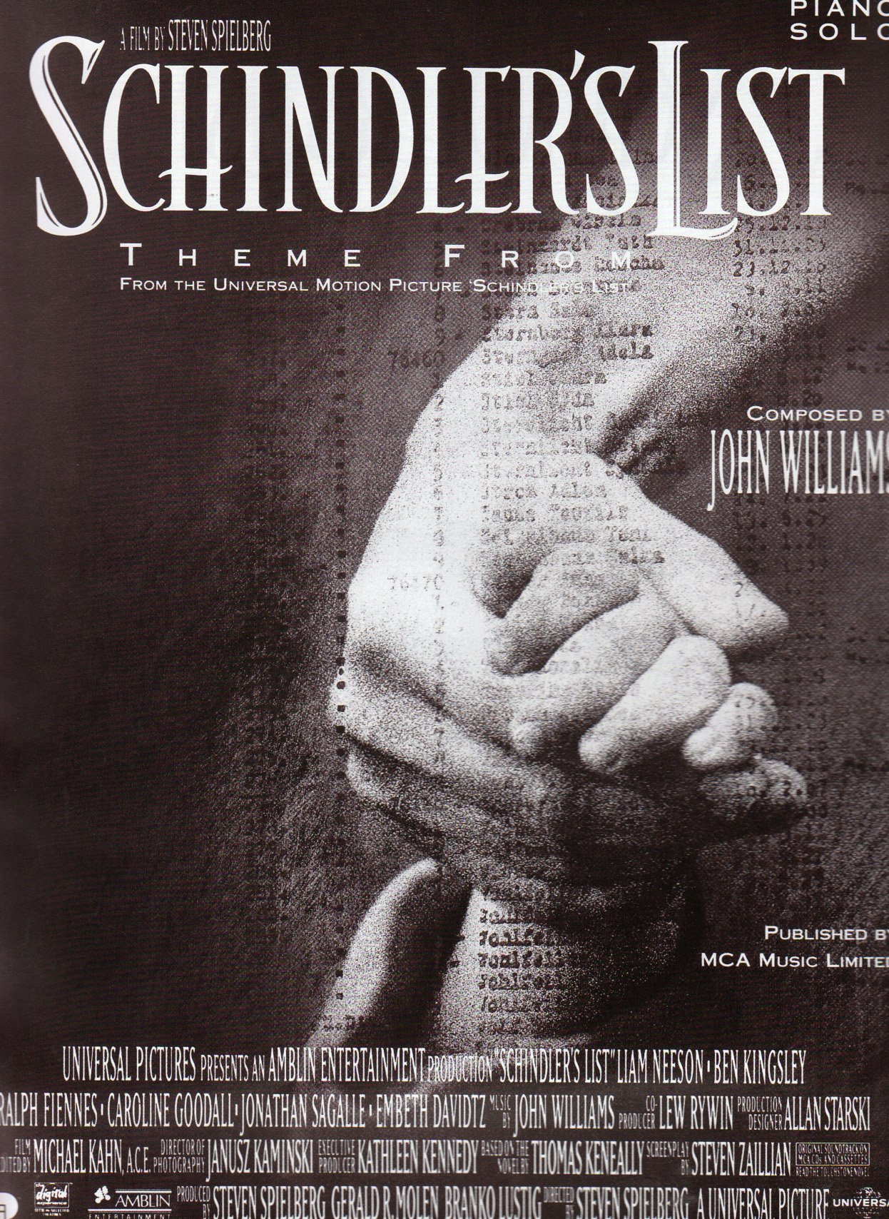 Schindlers List 2020.Schindlers List Theme Piano Solo Amazon Co Uk John