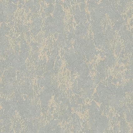 Muriva Arlo Texture Papier Peint Metallise Gris Or Amazon Fr Cuisine Maison