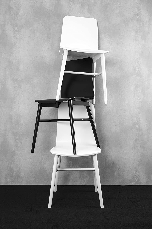 Confezione da 4 86 x 42 x 48 cm Colore: Bianco TENZO Terrence sedie di Design