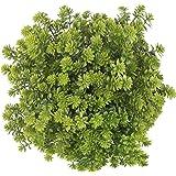 4 paquetes de flores artificiales resistentes a los rayos UV, plantas arbustos de boj hojas de plástico, arbustos falsos verd