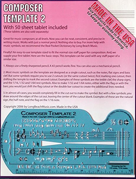 AmazonCom Song WriterS Kit For Composing Music Musical Instruments