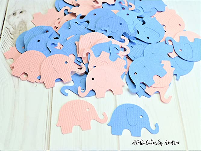 Amazon Light Pink And Light Blue Elephant Confetti Table