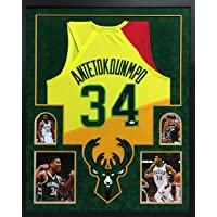 $399 » Giannis Antetokounmpo Milwaukee Bucks Autographed Signed Custom Framed Jersey JSA Certified