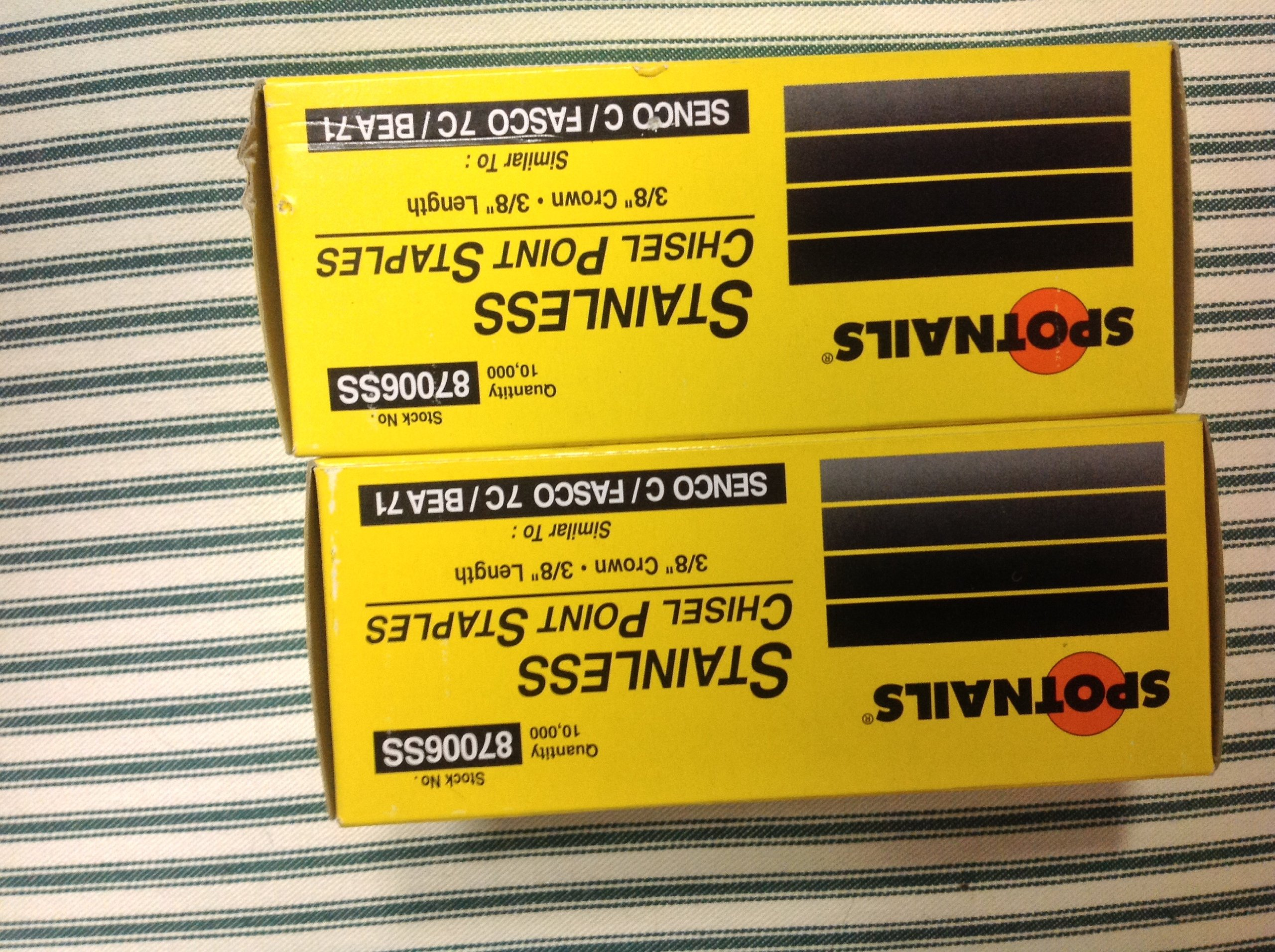 Stainless Steel Staples 3/8'' for 71 Series Staplers by Spotnails