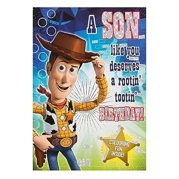Hallmark - Tarjeta de felicitación de Toy Story Color en ...