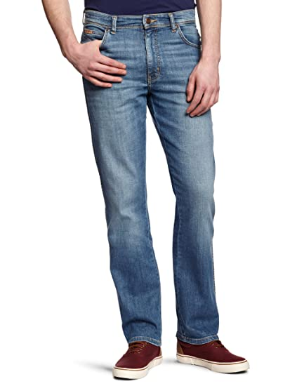 Wrangler Men's Texas Stretch Regular Fit Jeans, Blue, 30W x 32L