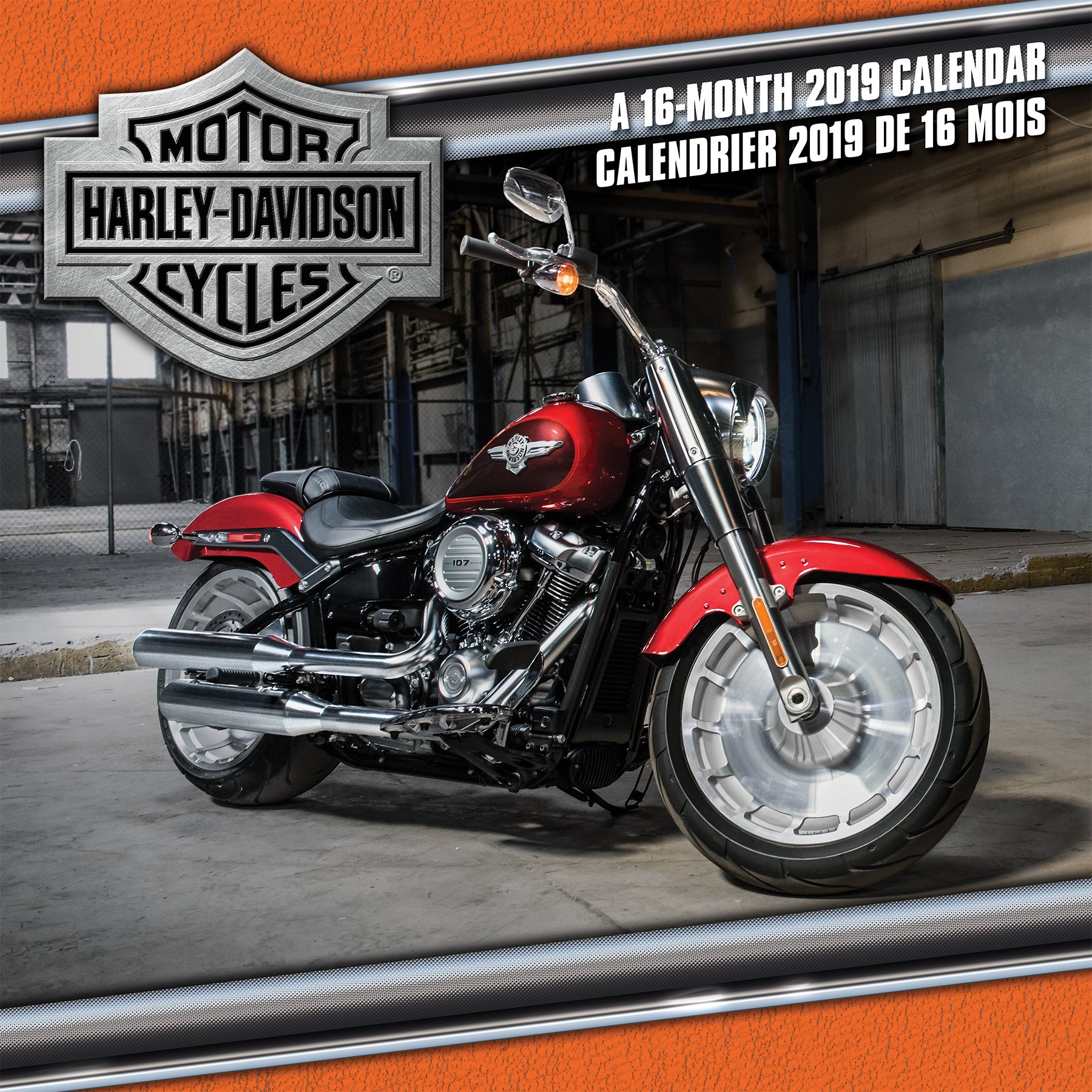 2019 Harley Davidson (Bilingual FRE) Wall Calendar (English and