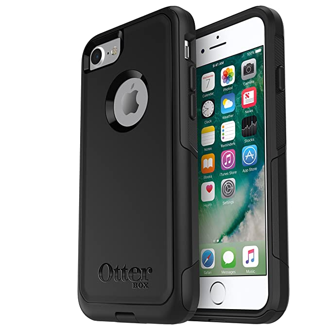 sale retailer 15e00 57791 OtterBox COMMUTER SERIES Case for iPhone 7 (ONLY) - Retail Packaging - BLACK