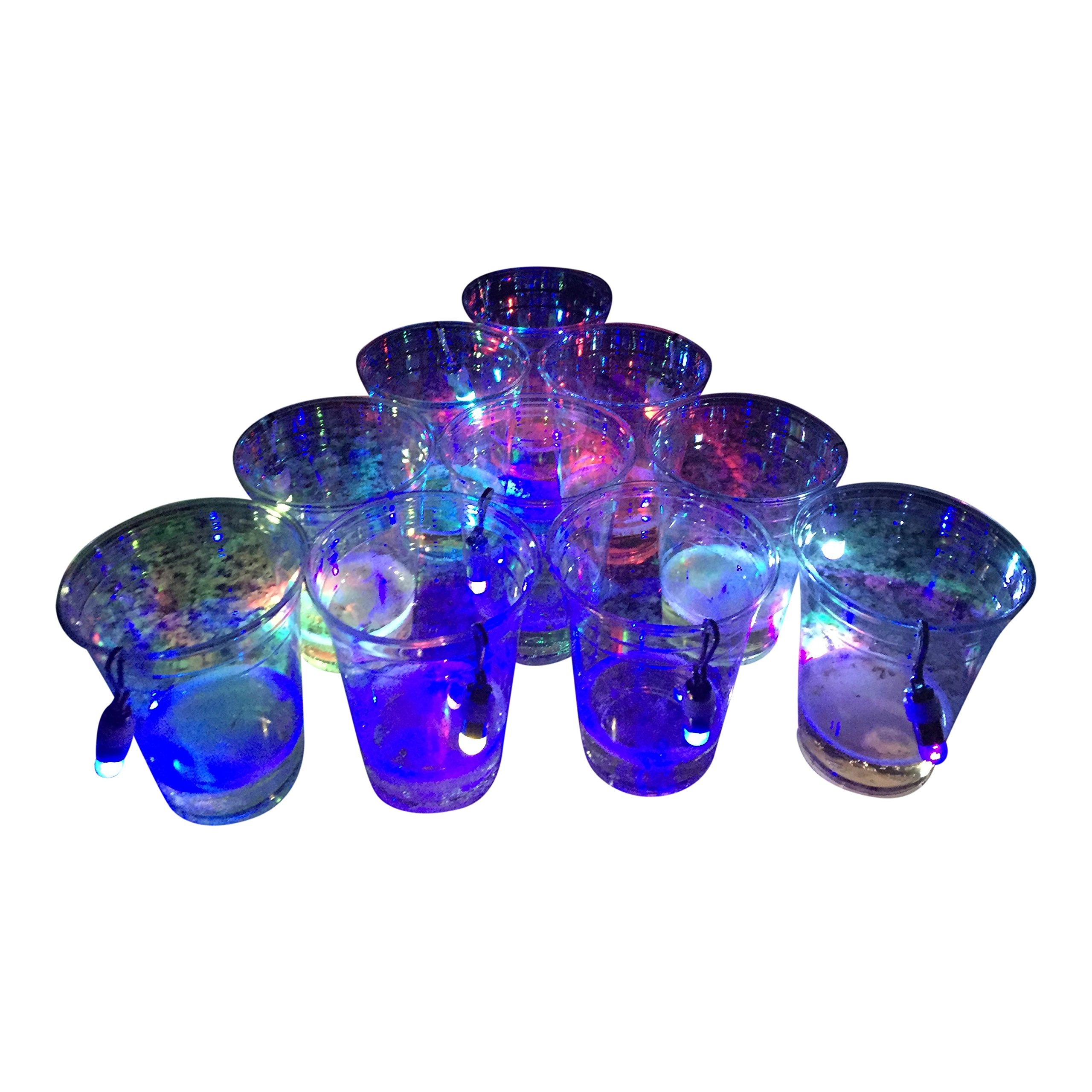 Slip Cup - Midnight Pong: Light Up Beer Pong- It's Lit! 22 Cups & 22 Led Lights
